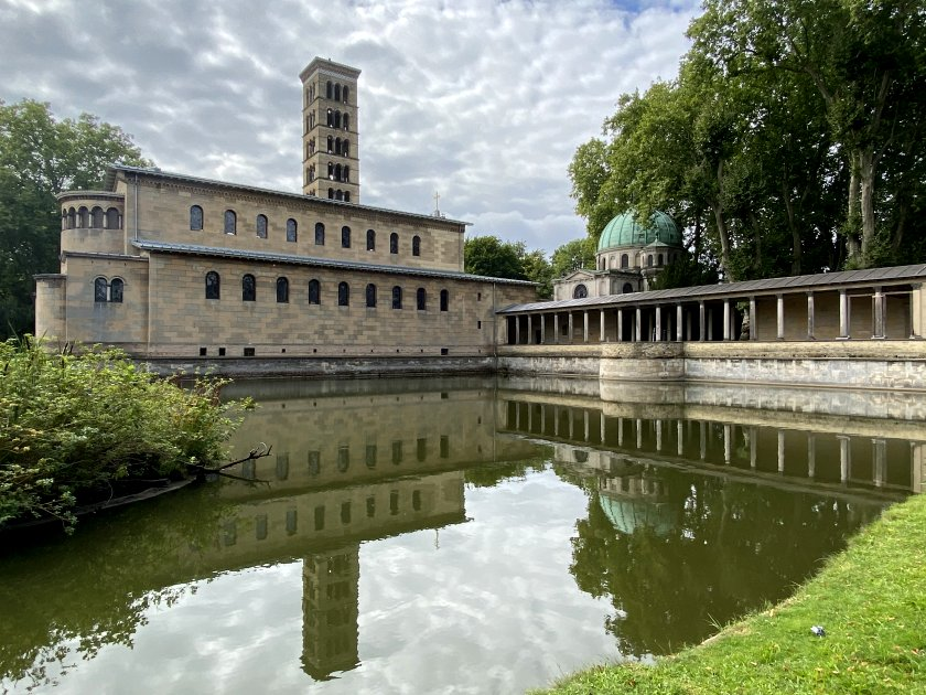 Church of Peace (left) and Kaiser Friedrich Mausoleum (right)