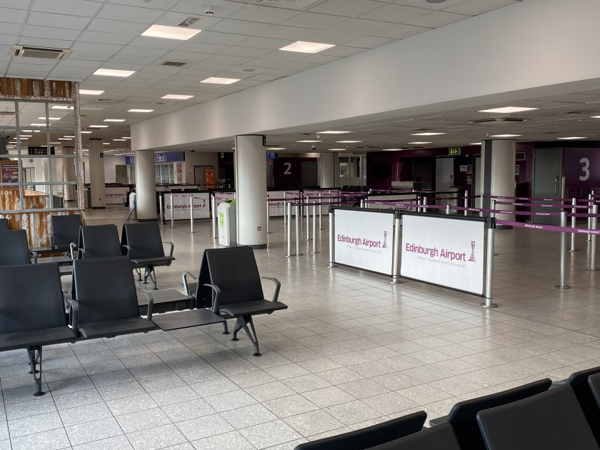 The oldest part of the terminal looked like a ghost town