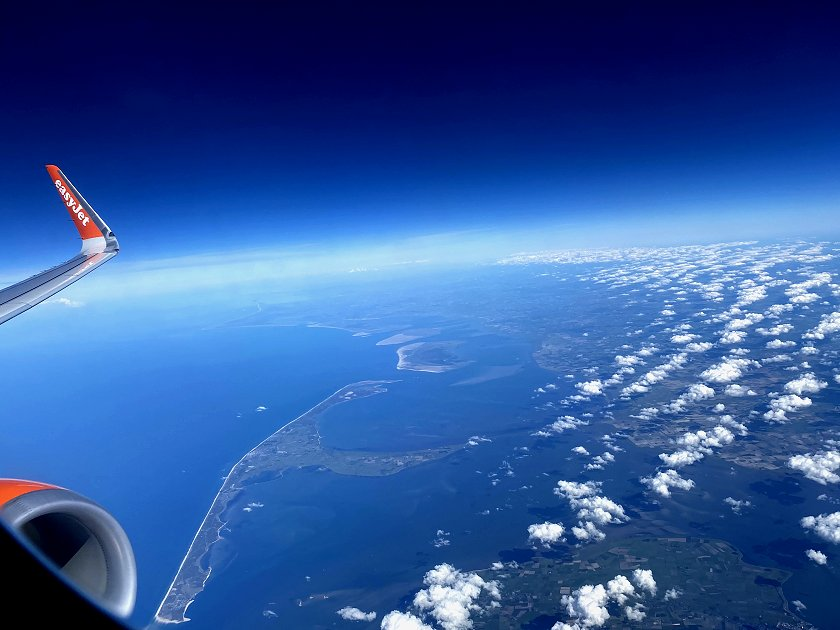 My flight passes the island of Sylt, off the west coast of Schleswig-Holstein and Jutland