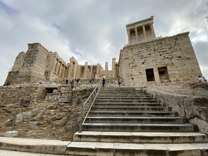 Now the steps, to reach (first) the Temple of Athena Nike and (second) the Propylaea