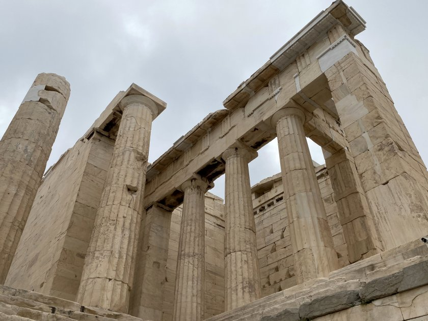 Part of the Propylaea (monumental entrance to the Acropolis)