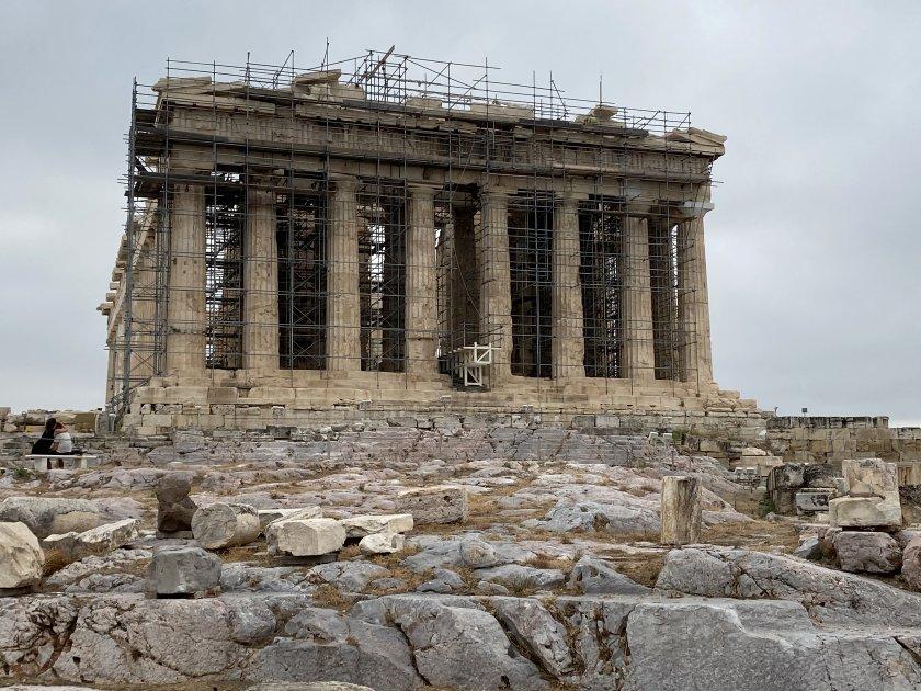 Ahead lies the Parthenon