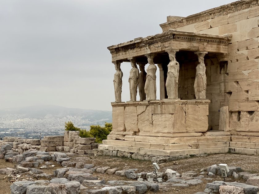 This part of the Erechtheion is the Porch of the Maidens