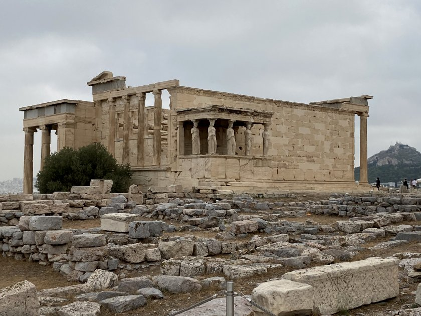 Final look at the Erechtheion, featuring the porch