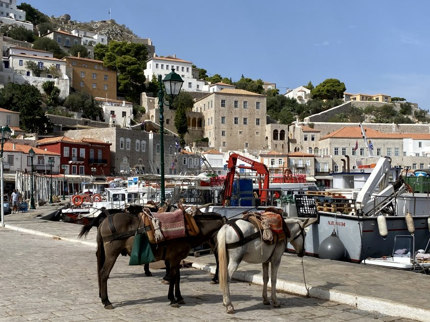 Tourist transport on Hydra