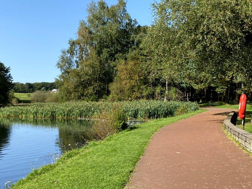 Walking round the loch