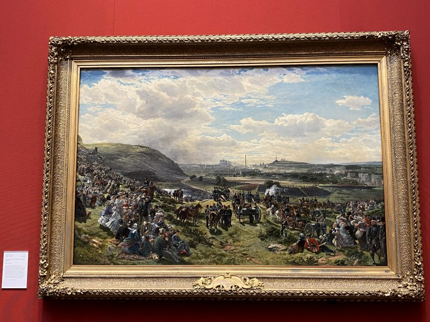 Another Edinburgh depiction, showing Holyrood Park in 1860