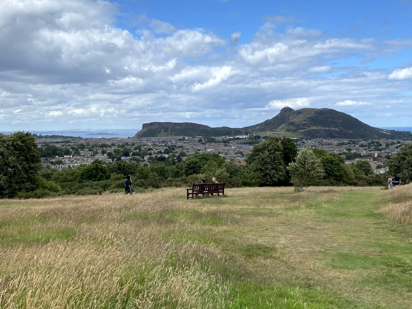 Salisbury Crags and Arthur's Seat, from Blackford Hill