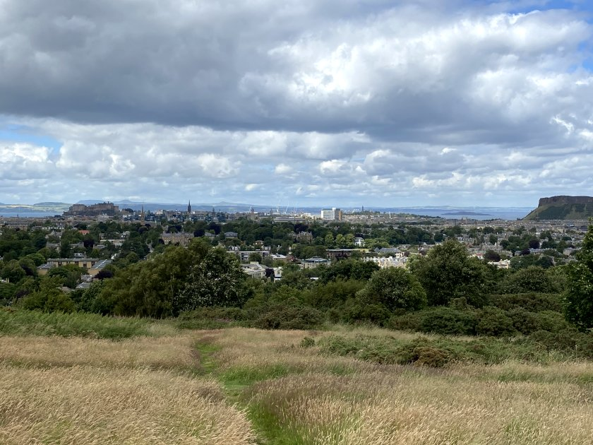 Central and South Edinburgh from Blackford Hill