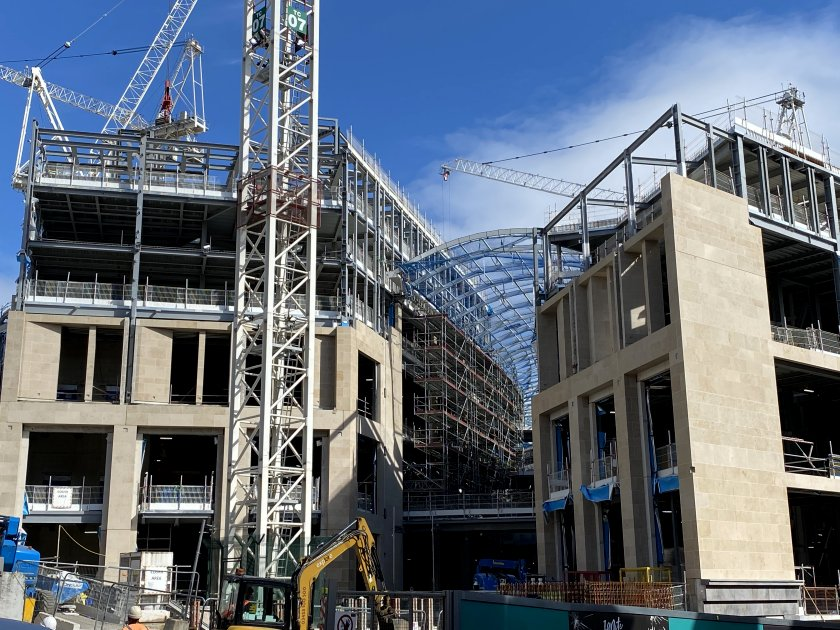 Construction resumes on the new St James Quarter
