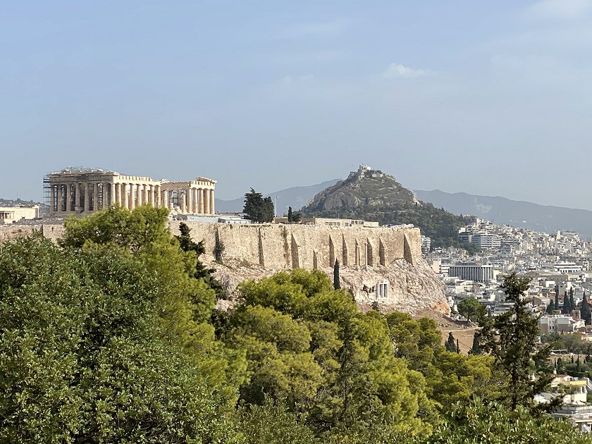 A closer look at the Parthenon and Mount Lycabettus