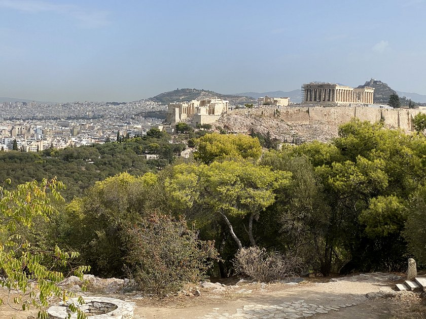 This view of the Acropolis shows all of the major attractions