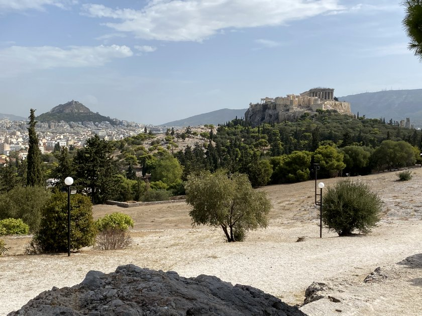 Mount Lycabettus and the Acropolis from a very different perspective