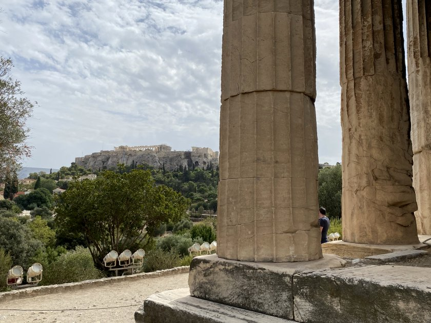 Temple of Hephaestus with Acropolis view