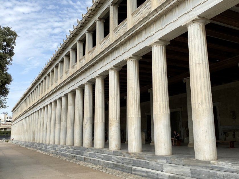 Stoa of Attalos (reconstructed in the 1950s)