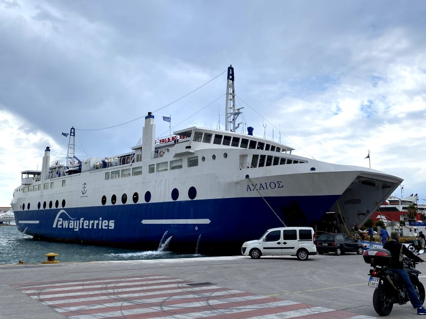 Here's our ferry, loading for Aegina