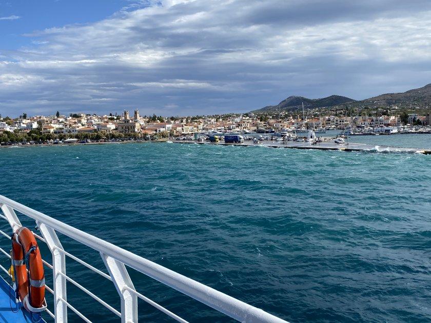 Approaching Aegina