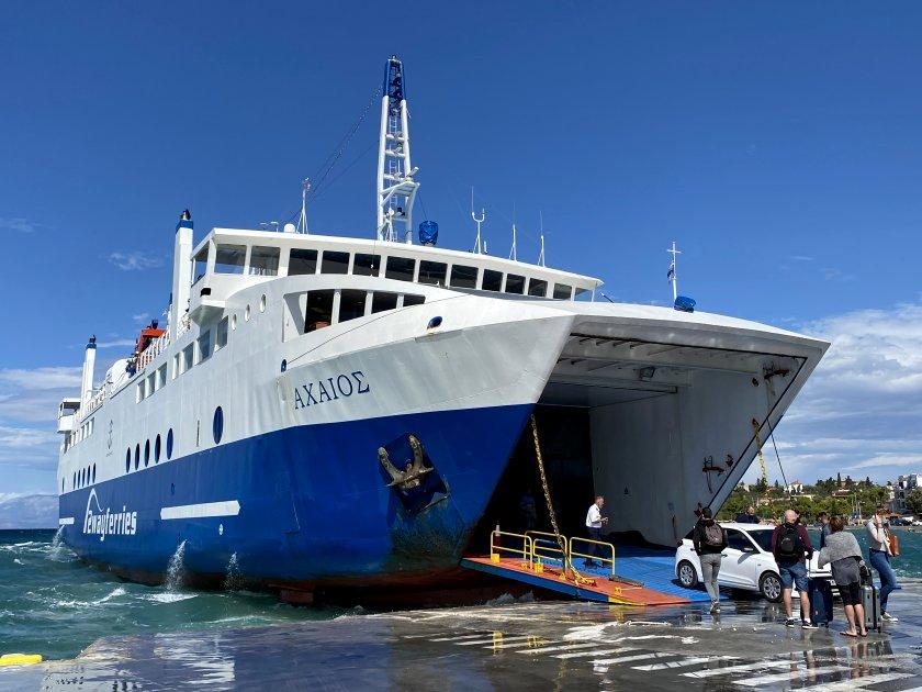 Unloading at Aegina