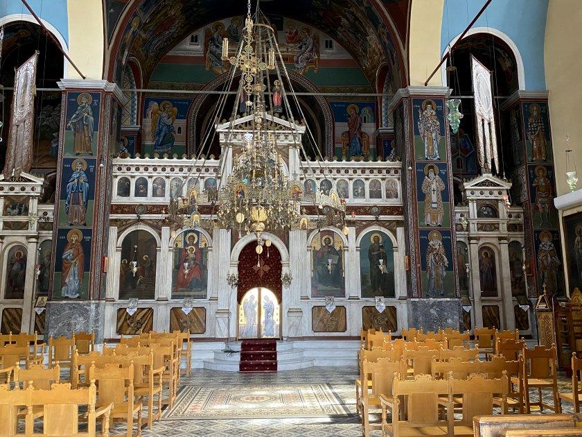 Ornate and colourful interior
