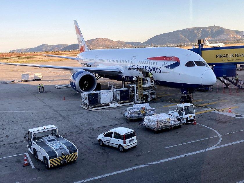 British Airways Boeing 787-8 at Athens
