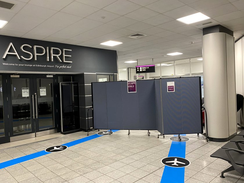 The entire 'west end' of Edinburgh Airport was closed off on this occasion