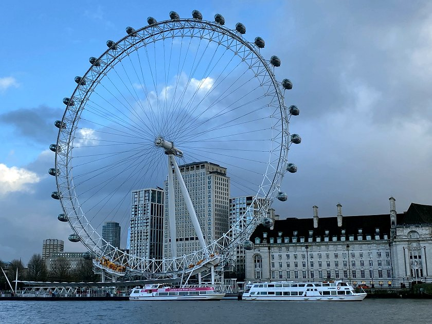 London Eye and County Hall from Westminster Pier