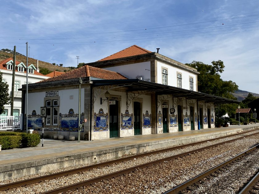 The station building at Pinhão is remarkable