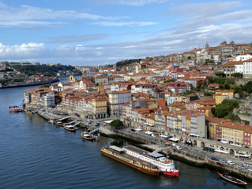 This photo and the following one focus on Porto's Ribeira district
