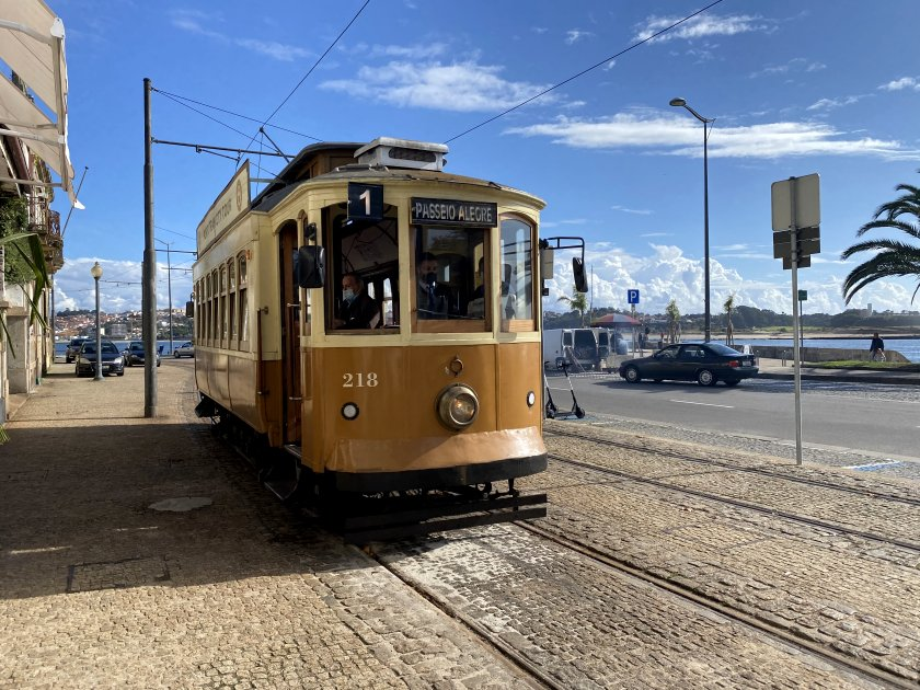This is our ride back into town (another vintage tram)