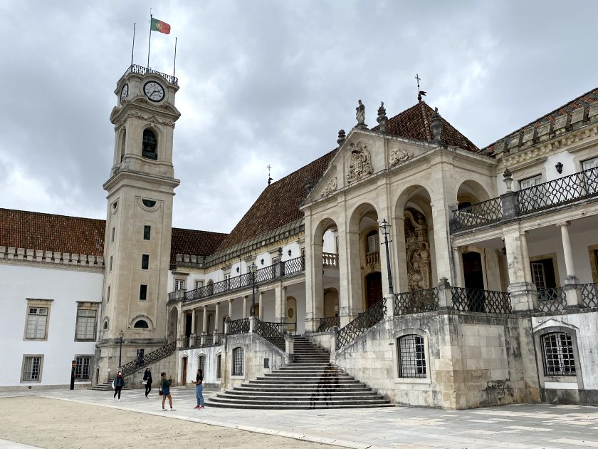 The part of Coimbra University that was once a royal palace