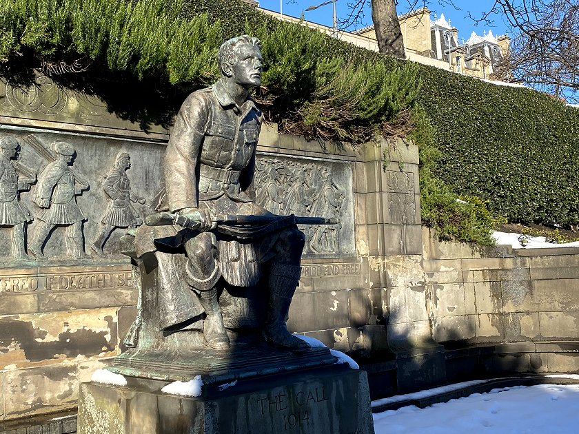 Scots American War Memorial, also known as 'The Call 1914'