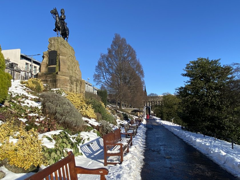 Monument to the Royal Scots Greys, Princes Street Gardens