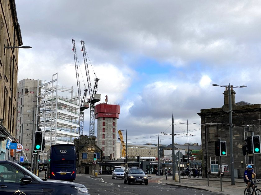 With the new St James Quarter nearing completion, the Haymarket development begins to rise