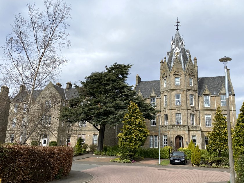 The building with the clock tower formed the centrepiece of the old Craiglockhart Poorhouse