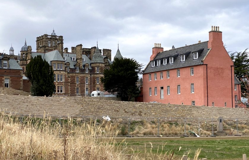 This initial view shows Old Craig House (right) and New Craig House (left)