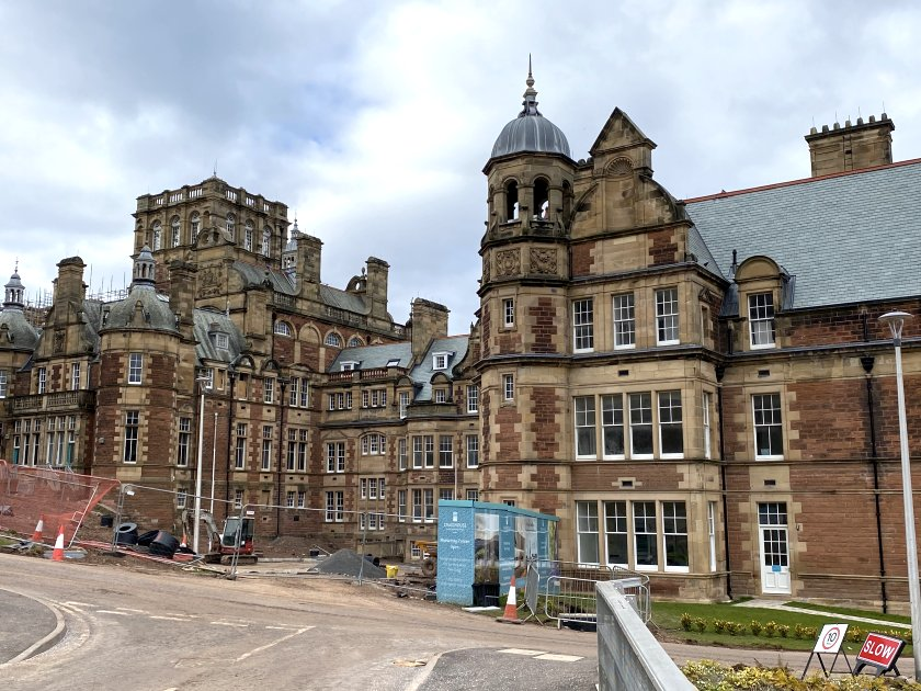 The spectacular former Craig House Hospital, now being marketed as New Craig