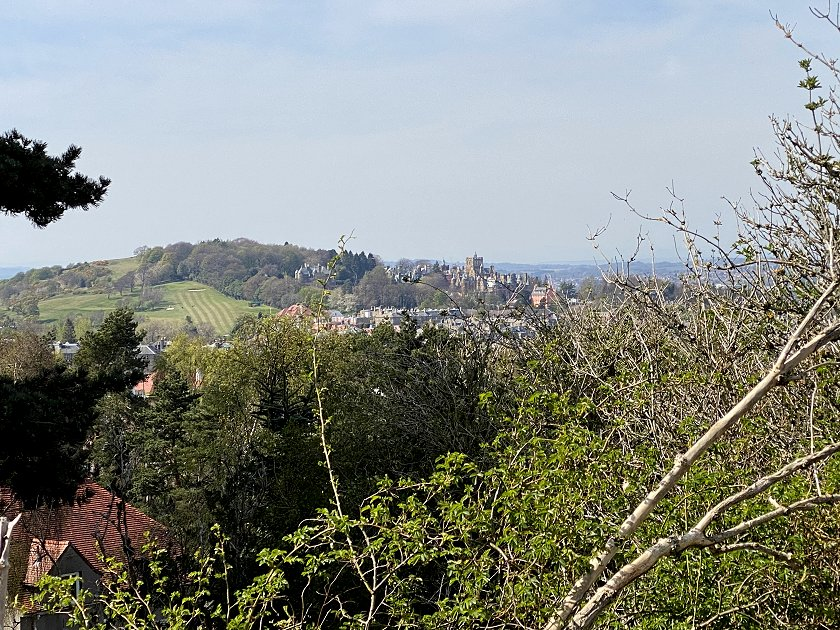This is Easter Craiglockhart Hill, with the Craighouse development that I visited recently