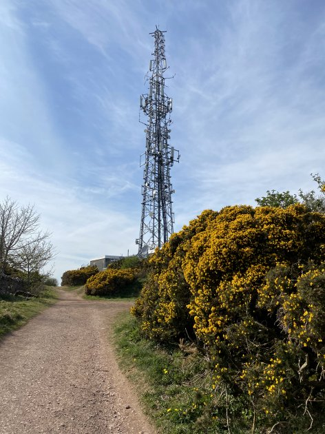 The radio transmitter also suggests that I'm approaching the highest point
