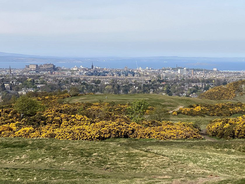This city view shows Castle Rock and Calton Hill - look for the Nelson Monument on the latter