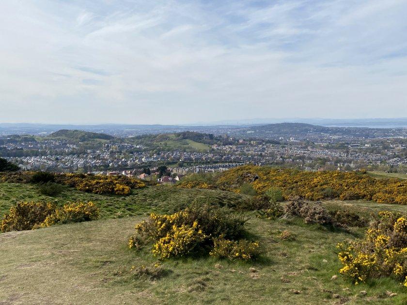 Western threesome: Wester Craiglockhart Hill, Easter Craiglockhart Hill and Corstorphine Hill