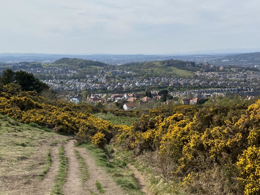 The final shot is of the two Craiglockhart hills, counted as one for the purposes of 'the seven'