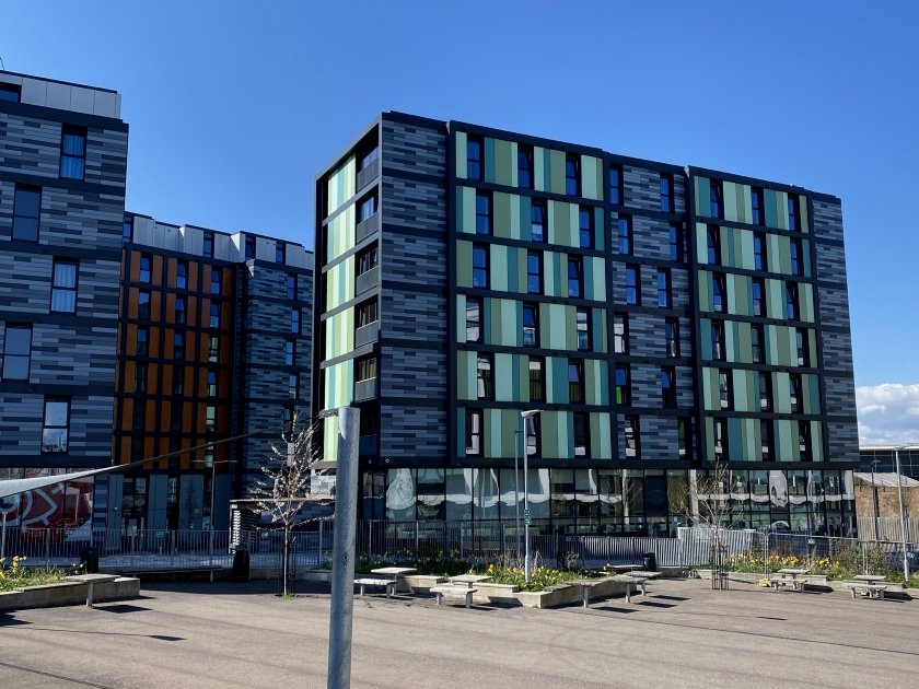 More modern architecture in this regenerating part of town