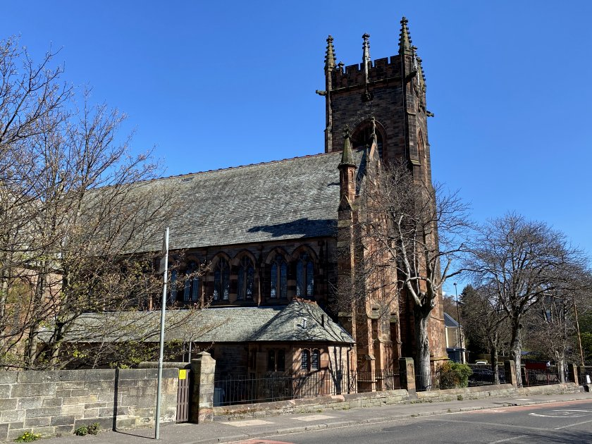 ... and to get a better look at Polwarth Parish Church