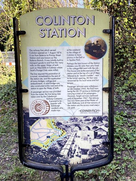 Location of former branch line station