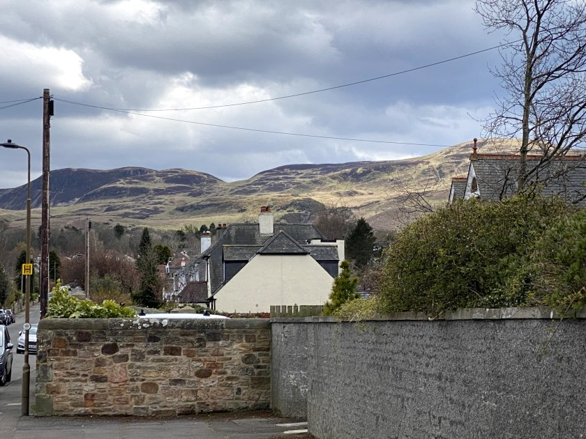 The Pentland Hills, source of the Water of Leith