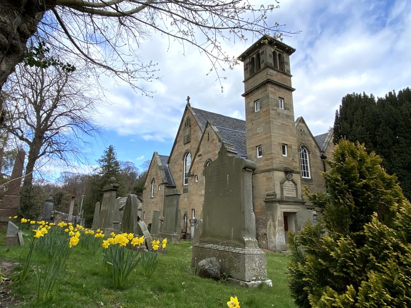 Colinton Parish Church (1908) incorporates the tower from the previous building