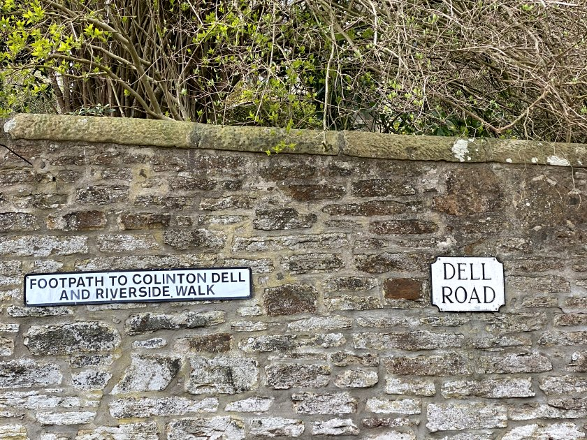 I had intended to continue my walk directly from Dell Road
