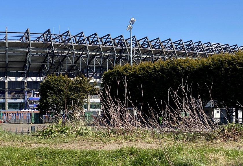 Stadium close-up