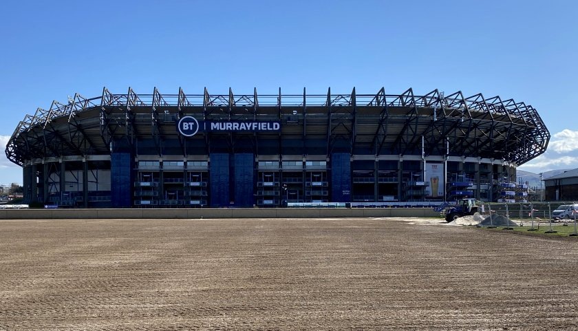 Murrayfield Stadium from the north side