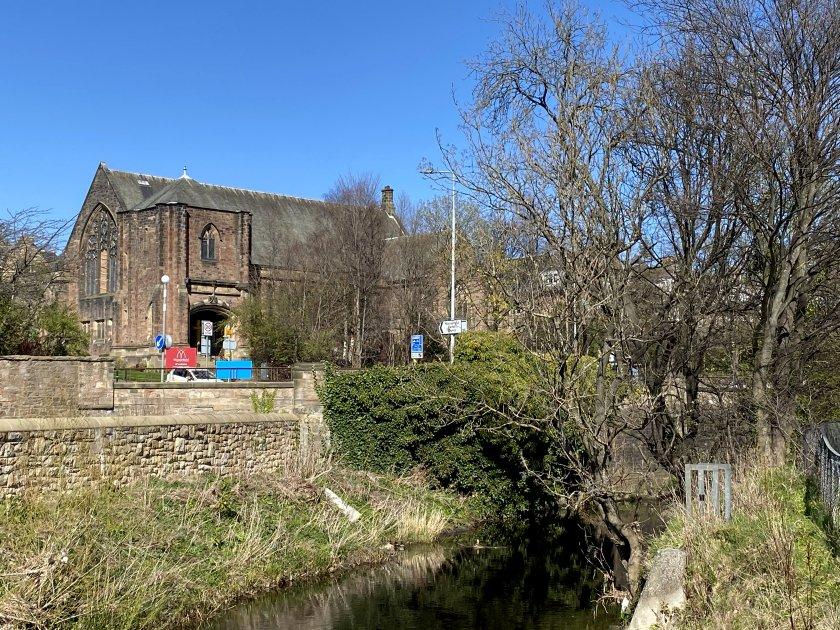 View towards Murrayfield Parish Church